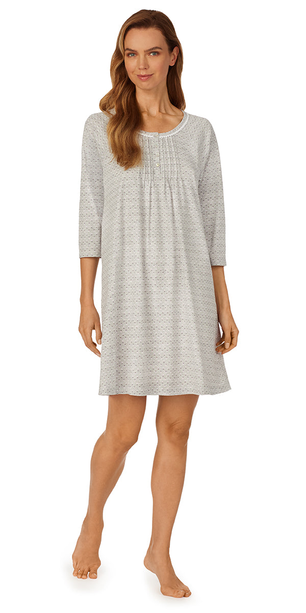 Charcoal Geo Nightshirt