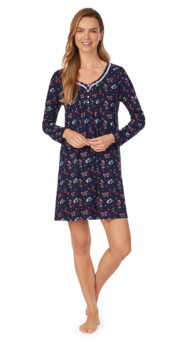 Holiday Floral Nightshirt - Plus