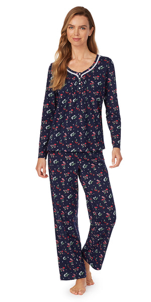 Navy Bliss Pajama Set - Petite