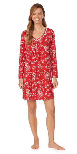 Red Floral Nightshirt