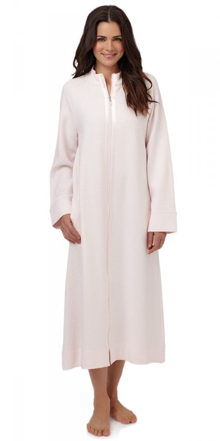 Heritage Long Zip Robe – Pink Puff
