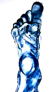 Distorted Blue Foot