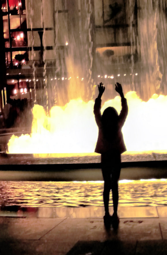 Girl at Fountain