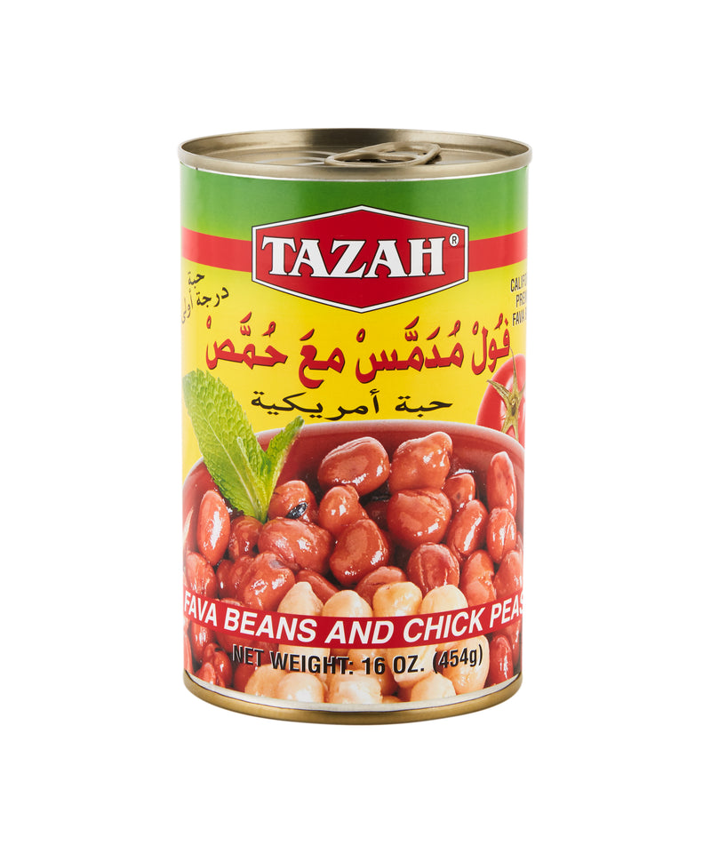 Tazah Fava Beans And Chick Peas 16oz - Papaya Express