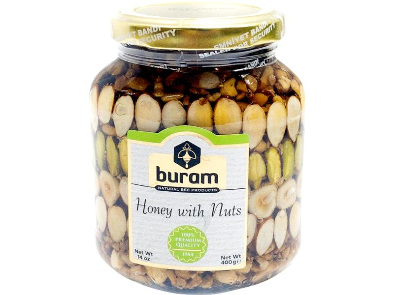 Buram Honey With Nuts Small, 26oz - Papaya Express