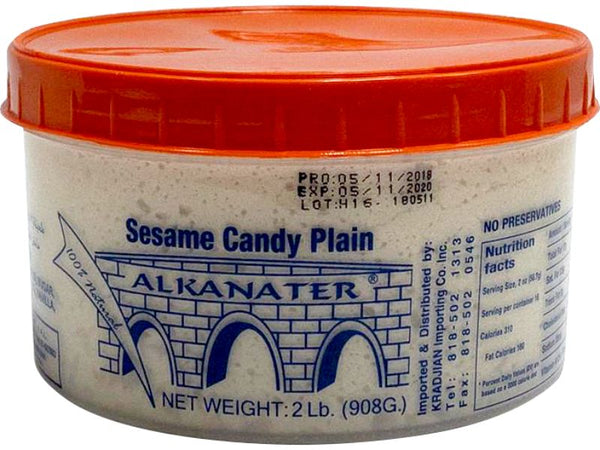 Alkanater Sesame Candy Plain Large, 2lb - Papaya Express