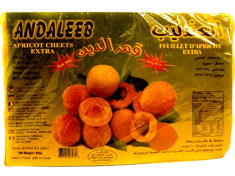 Andaleeb Apricot Sheets, 400g - Papaya Express