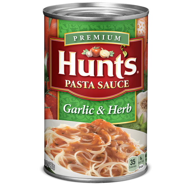 Hunts Pasta Sauce Garlic & Herb- 24oz