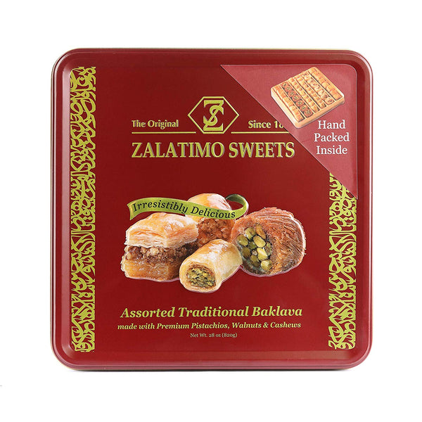 Zalatimo Sweets Assorted Traditional Baklava (800g) - Papaya Express