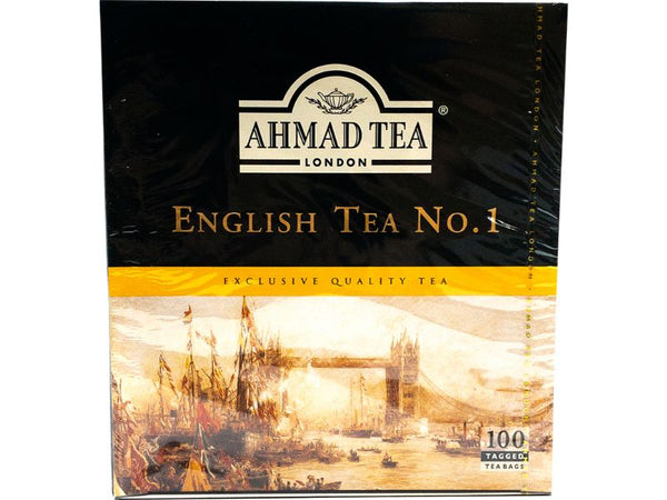 Ahmad Tea English No.1, 100 Bags - Papaya Express