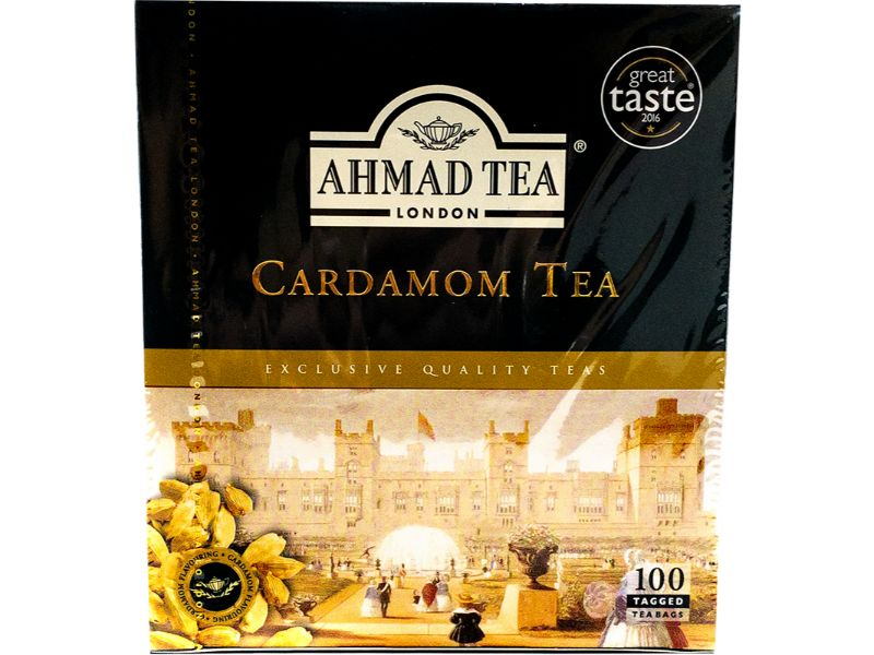 Ahmad Tea Cardamom, 100 Bags - Papaya Express