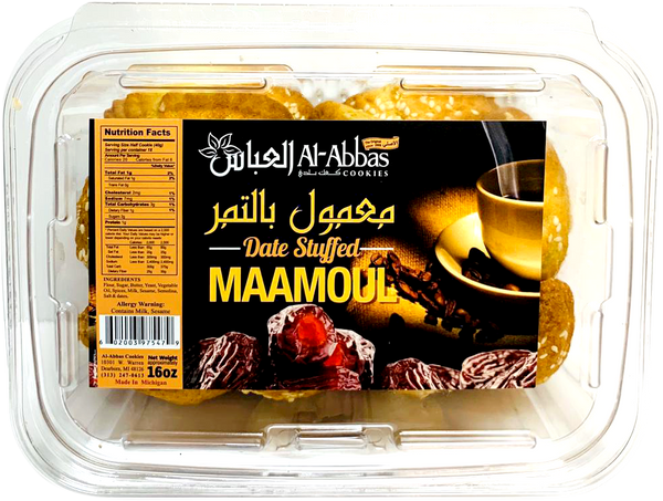Al-Abbas Cookies Date Stuffed Maamoul 16oz - Papaya Express