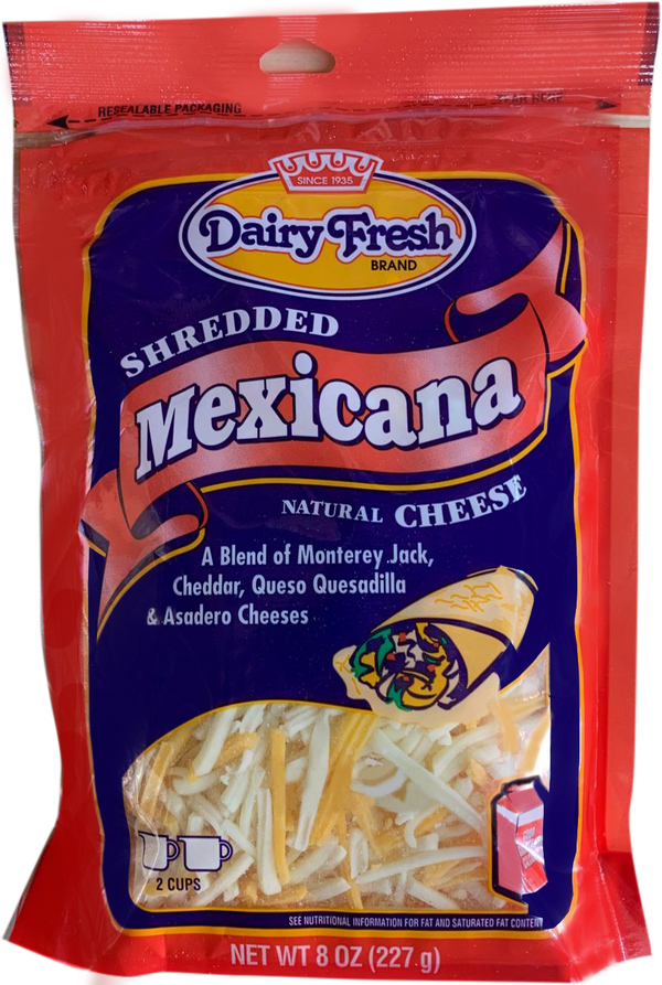 Dairy Fresh Shredded Mexicana Natural Cheese - Papaya Express
