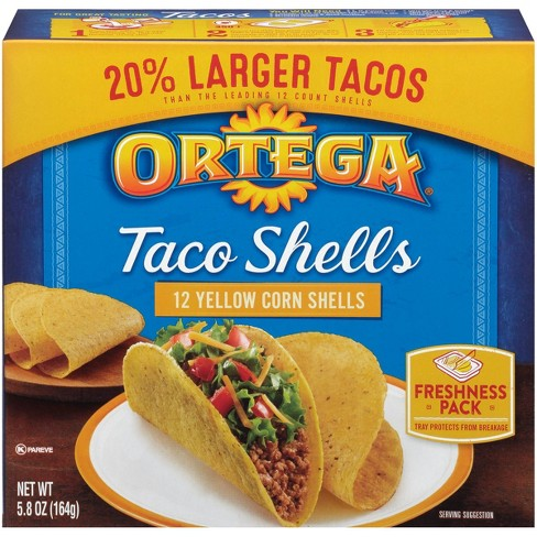 Ortega Taco Shell - 12 Yellow Corn Shells - Papaya Express
