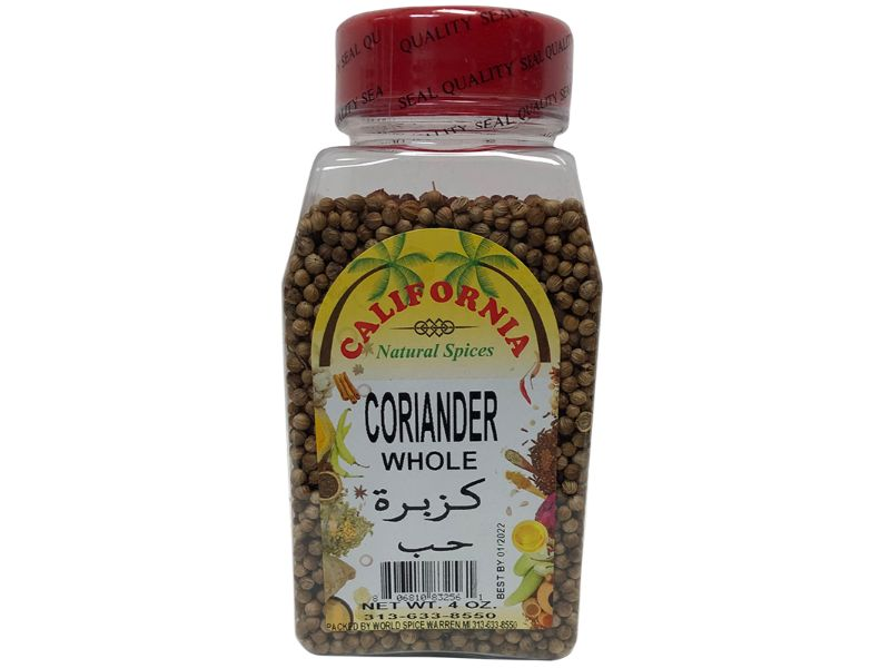 California Coriander Whole, 4oz - Papaya Express