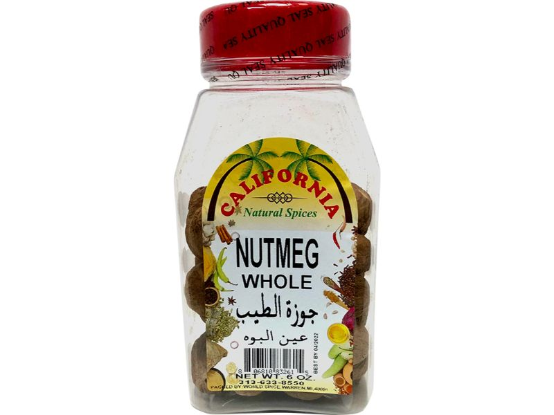 California Nutmeg Whole, 6oz - Papaya Express
