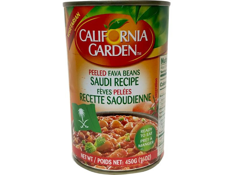 California Garden Saudi Peeled Fava, 450g - Papaya Express