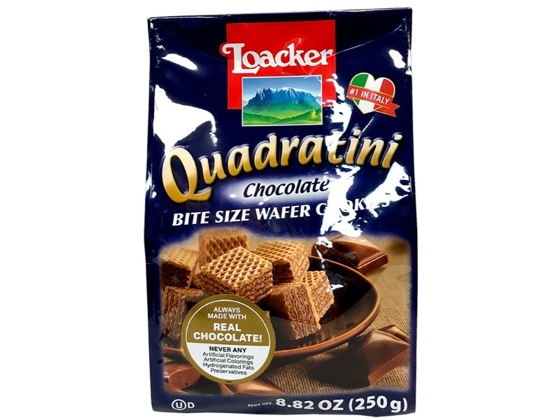 Loacker Quadratini Chocolate, 250g - Papaya Express