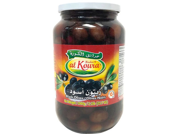 Al Koura Black Olives, 1000g - Papaya Express