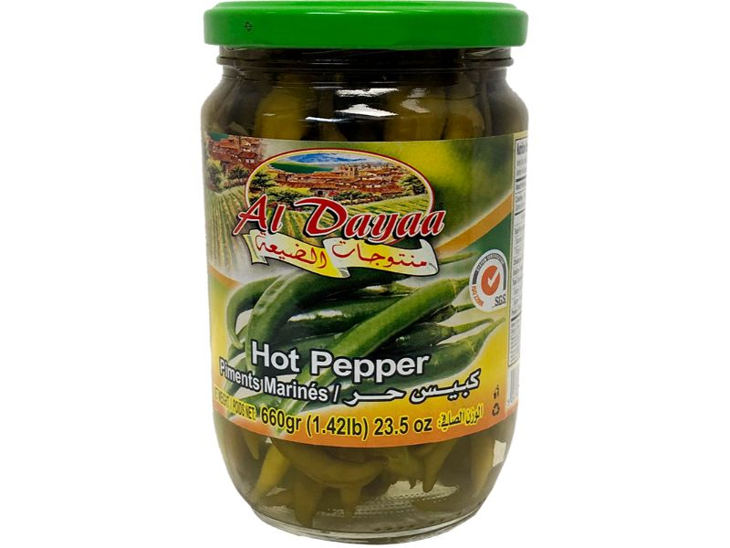 Al Dayaa Hot Pepper, 660g - Papaya Express