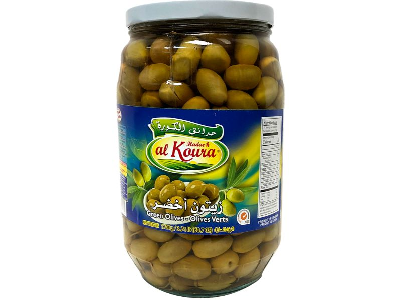 Al Koura Green Olives Large, 1700g - Papaya Express