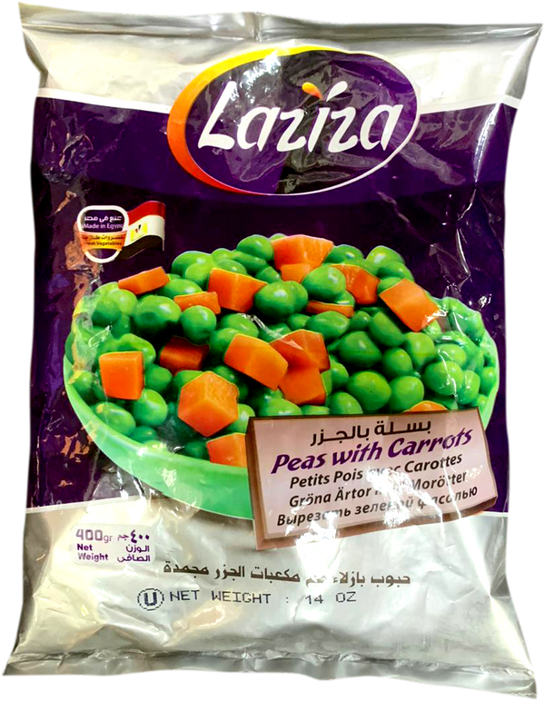 Laziza Peas and Carrots 400g - Papaya Express