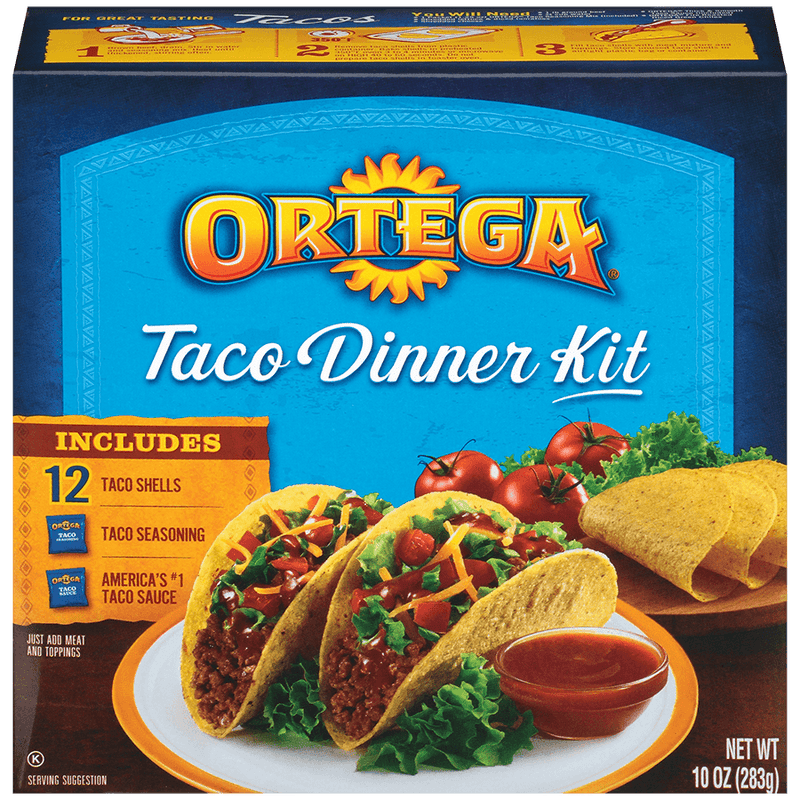 Ortega Taco Dinner  Kit - 12 Taco Shell - Papaya Express