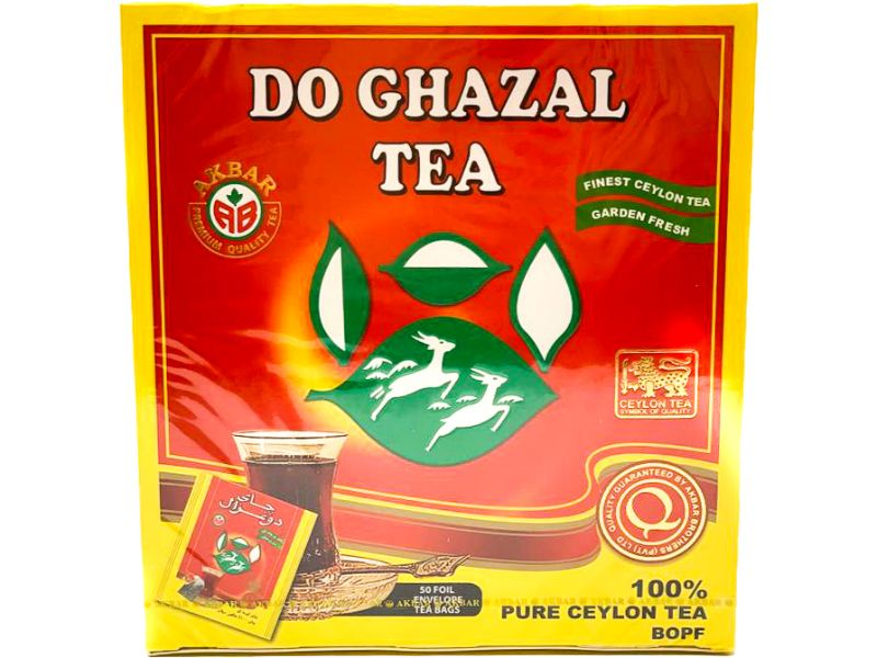 Do Ghazal Tea Ceylon, 50 Bags - Papaya Express