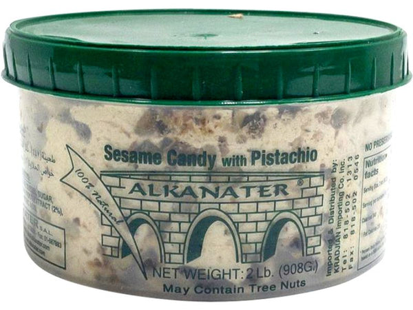 Alkanater Sesame Candy With Pistachio Large, 2lb - Papaya Express