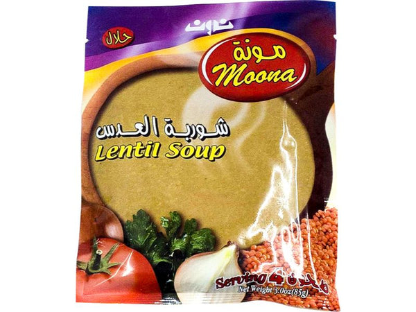Moona Lentil Soup, 3oz - Papaya Express