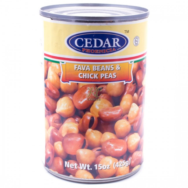 Cedar Fava Beans And Chickpeas - 15oz - Papaya Express