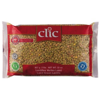 Clic Green Lentils, 32oz - Papaya Express