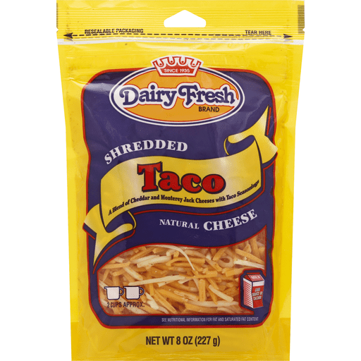 Dairy Fresh Shredded Taco Natural Cheese - Papaya Express