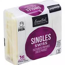 Essential Everyday Singles Swiss Cheese, 16cnt - Papaya Express