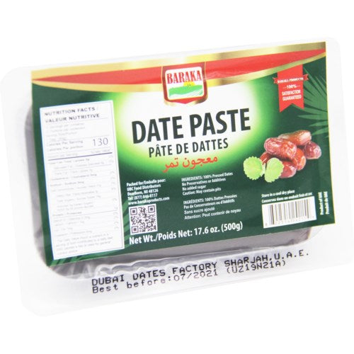 Baraka Baking Date Paste 500GR - Papaya Express
