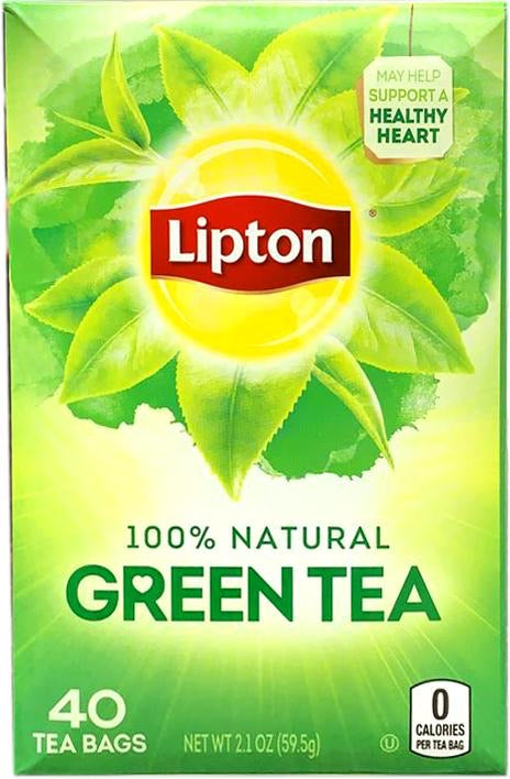 Lipton Green Tea 40ct Tea Bags, 59.5g - Papaya Express