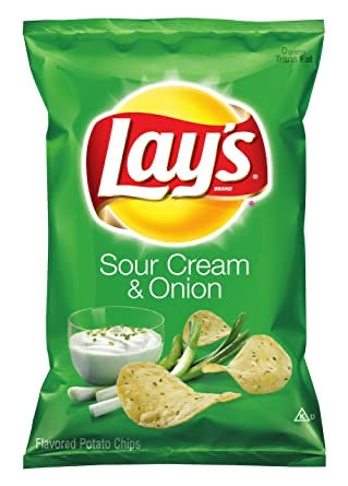 Lays Potato Chips Sour Cream & Onion Flavor - Papaya Express