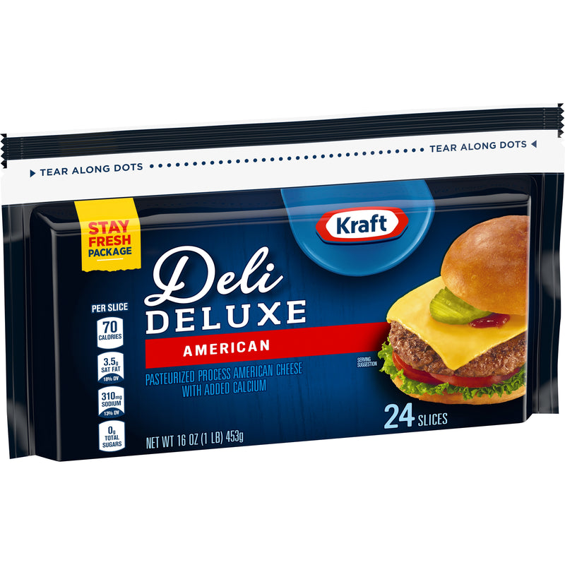 Kraft Deli Deluxe American Cheese, 24cnt - Papaya Express