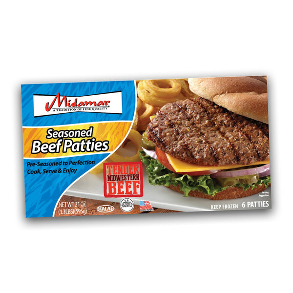 Midamar Beef Patties - 1.3lb - Papaya Express