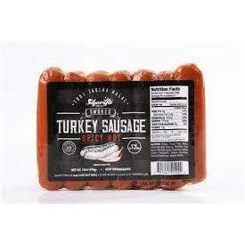 Sharifa Smoked Turkey Sausage (Spicy Hot) - 16oz - Papaya Express