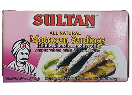 Sultan All-Natural Moroccan Sardines - 125g - Papaya Express