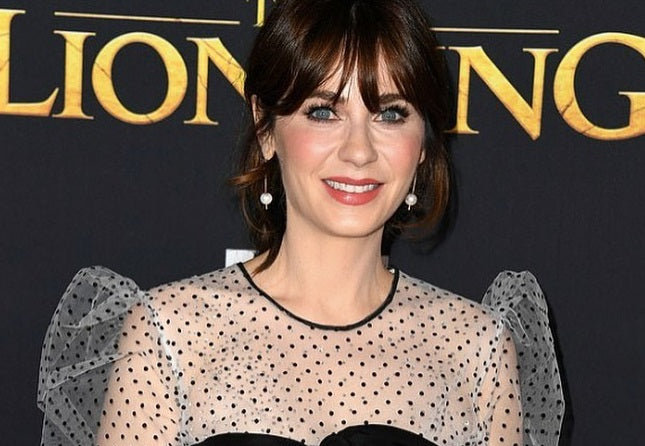 Zooey Deschanel Radiates in our Newest Lipstick Shade