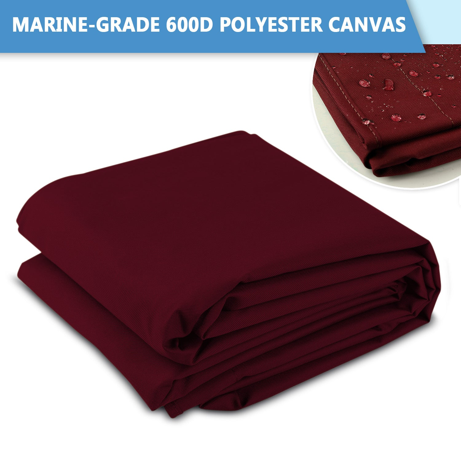 Leader Accessories Bimini Top Marine-Grade 600D Polyester Canvas