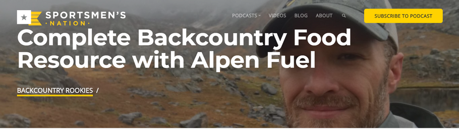 Alpen Fuel on the Backcountry Rookies Podcast
