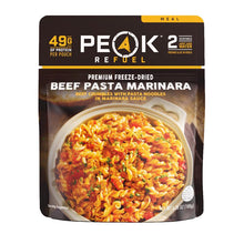 Load image into Gallery viewer, Peak Refuel Beef Pasta Marinara Meal