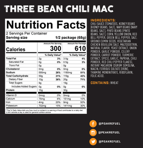 Peak Refuel Three Bean Chili Mac Meal