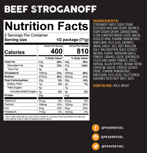 Peak Refuel Beef Stroganoff Meal