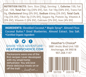 Heather's Choice Blueberry Almond Packaroons (Single Pack)