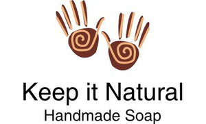 our business logo for Keep it Natural, handmade soaps