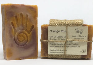 Orange Rose scented with Sweet Orange and Rose Geranium essential oils